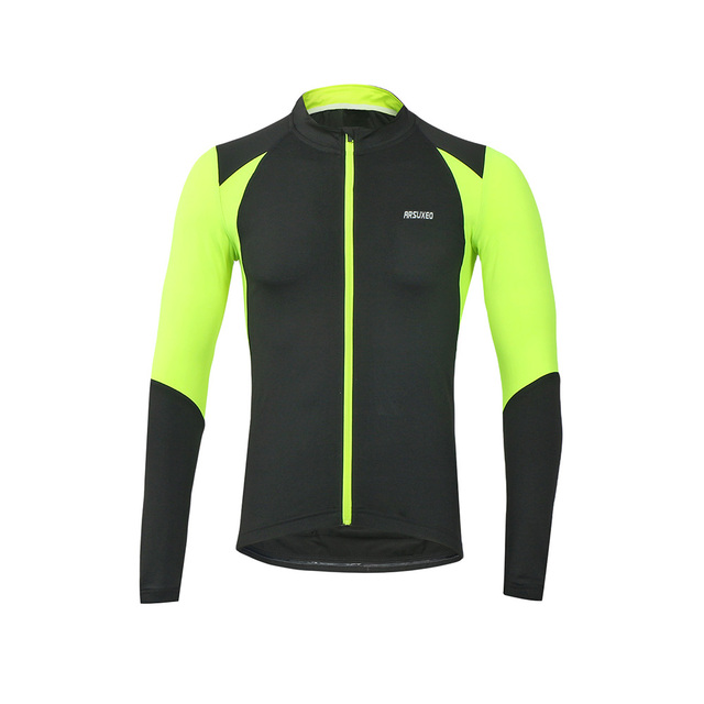 572d89808 ARSUXEO Outdoor Sports Autumn Cycling Jersey Bike Bicycle Long Sleeves Slim  Fit Compression MTB Riding Clothing