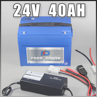 24v electric bicycle battery ABS Case 24V 40AH lithium ion battery For 24v 1000w ebike|24v 40ah|24v bmsbattery pack lithium -