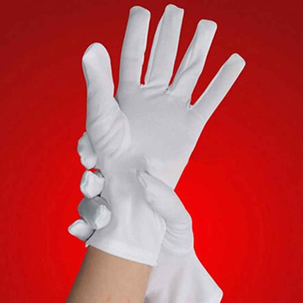 a2b2fc052d 1Pair White Formal Gloves Tuxedo Honor Guard Parade Inspection Collection  Serve