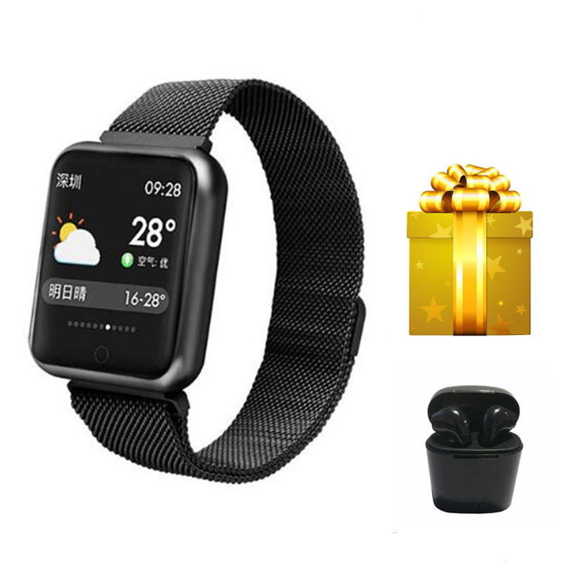 Smartband fashion Smartwatch women for xiomi smart watch heart rate monitor IP68 waterproof watches blood pressure
