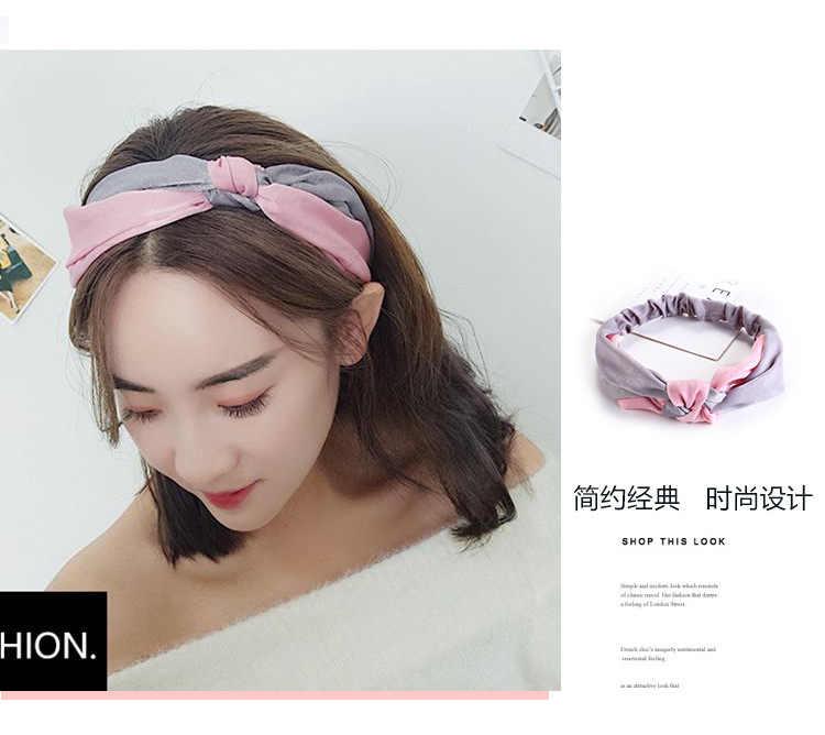 Модная женская повязка на голову повязки для волос аксессуары для упаковки для женщин девушки повязка для украшения волос резинки головной убор