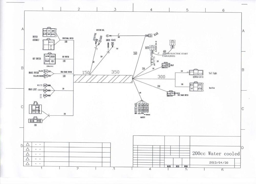 wildfire chinese atv wiring diagrams taotaoatvpartswholesale com sunl  atv 250 on chinese 110 atv wiring diagram,