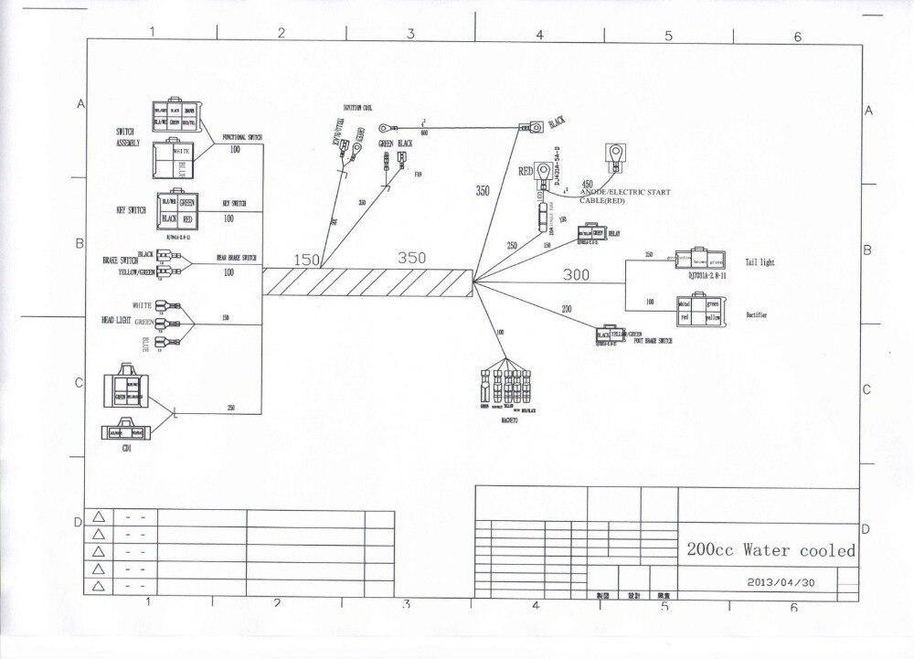 250cc 200cc Atv Quad Full Electrics Cdi Mago Ignition Coil Rhaliexpress: Chinese 200 Atv Wiring Diagrams At Gmaili.net