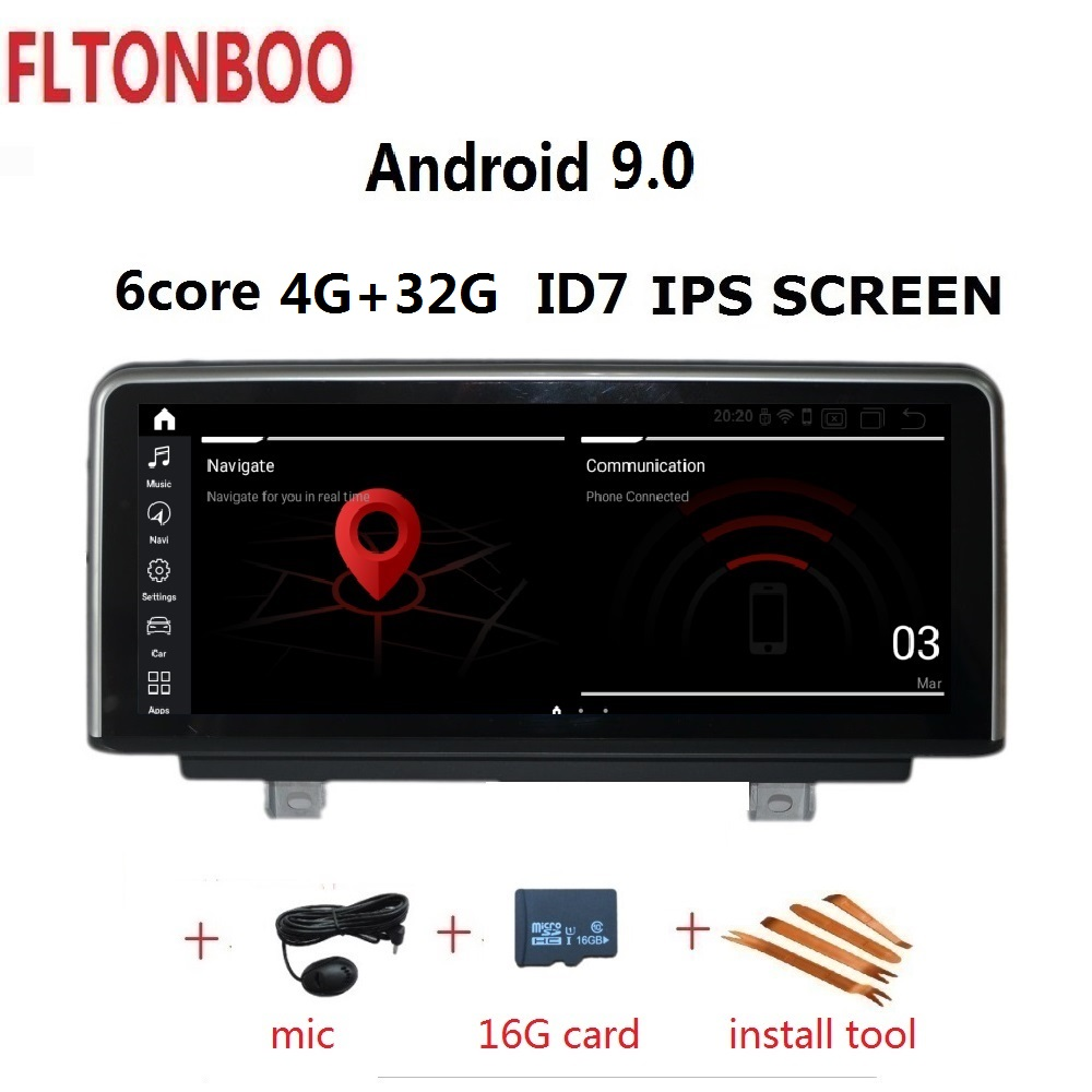 10.25 ''Android 9.0 voiture Gps navigation ID7 pour BMW série 3 F30 F31 F34 pour BMW série 4 F32 F33 F36 6 core 4GB RAM 32GB ROM 3G