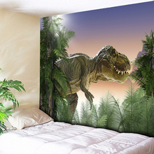 Forest Dinosaur Tapestry Wall Hanging Bedroom Bedside Decorative Animal Psychedelic Art Decor Cloth