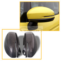 Carbon fiber Replacement Car Side Mirrors caps mirrors Auto Rearview Mirror Spare for Honda Fit 2014 UP City 2015 UP