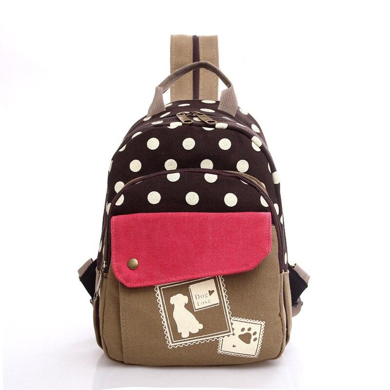 Cheryldili New Casual Woman Backpack Fashion Ladies school bag Polka Dot College Wind Female For Girl 45ZS