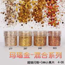 4 Box 10ml holographic Champagne Series Glitter Dust,Shiny Nail Sequins Powder,3D Art Pigment DIY Craft Dust For Manicure