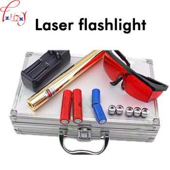 DC 7V Full - copper Laser Fashlight Visible Distance of 1000 Meters OX-BX8 Pro Laser Light With 5 Effect Lamp Head 1PC