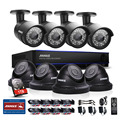 ANNKE 8CH CCTV System HD 2MP 1080P DVR 8PCS 1500TVL IR CCTV Outdoor Home Security Camera Surveillance System Kit 1TB HDD