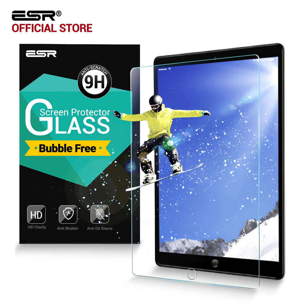 Screen Protector for iPad 2 3 4, ESR Tempered Glass 9H HD Clear Bubble Free Protective Film screen Protector for iPad 2/3/4 enkay clear hd screen protector protective film guard for sony xperia z3 l55t transparent