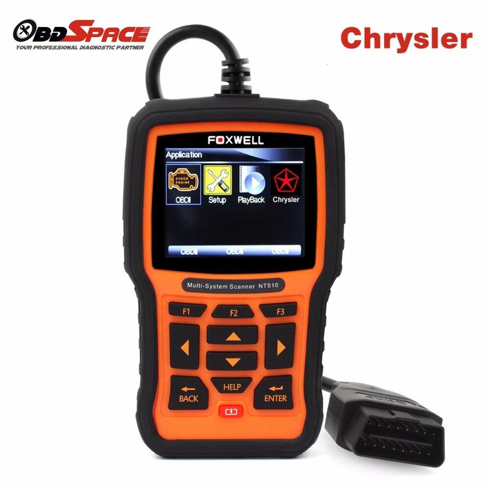 Prix pour FOXWELL NT510 OBD2 Plein-Automatique des systèmes De Diagnostic Scanner pour Chrysler 300c pour jeep wrangler ABS SRS EPB Transmission Scan outil