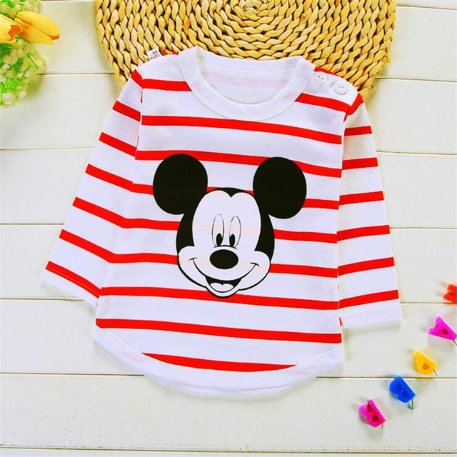 New Baby Boy Summer Mickey Clothes Infant Newborn Boy Girl Clothing Set Sports Tshirt+ Shorts Suits