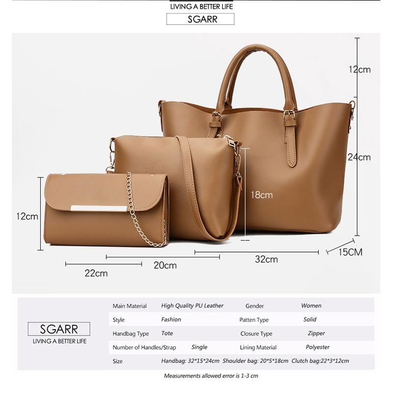 0aa4de7433 Delle Nuovo Famoso Di 3 Sacchetto brown Moda Set Qualità colore Rosa Casual  Borse Designer Signore ...