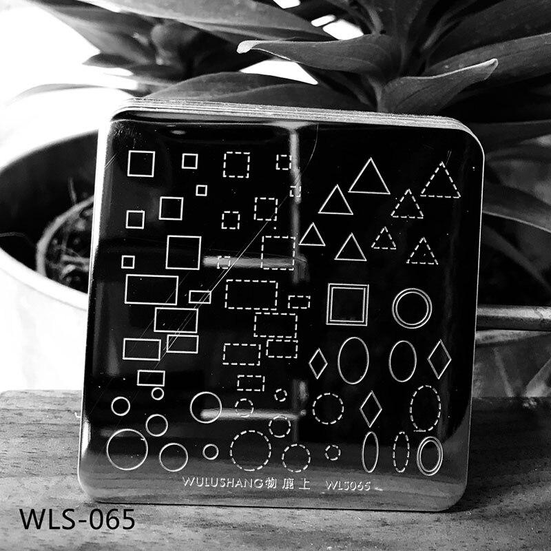1 шт. квадратные пластины для ногтей геометрический цветочный узор шаблон DIY штамп инструмент для изображения