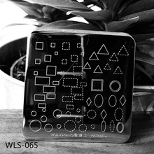 1pcs Square Nail Stamping Plates Geometric figure Flower Pattern Nail Template DIY Stamp Image Plate Stamping Tool