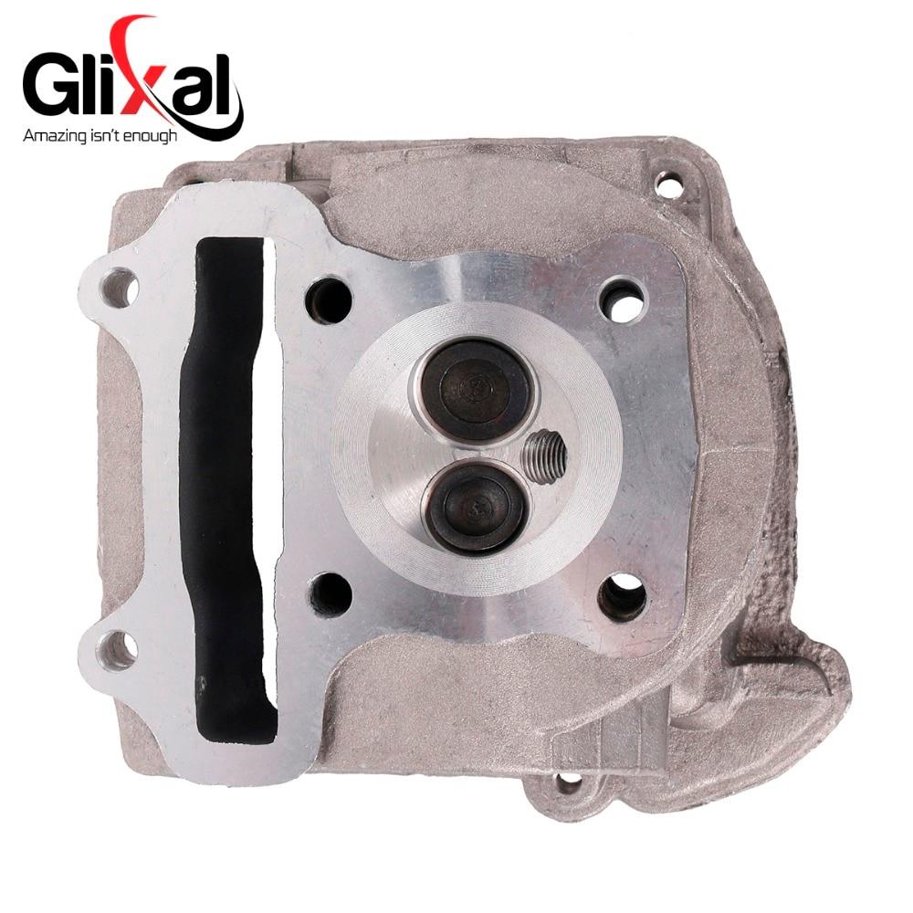 Glixal GY6 72cc 80cc 47mm Cylinder Head Assy for 139QMB 139QMA Roketa  Qingqi ZNEN Scooter Moped ATV (69mm valve)