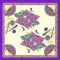 Quadrado Chiffon Longo Moda Primavera Seda Georgette Cachecol Echarpes Lenços Lenços Hijab Bandana 90*90 Foulard Mujer Femme