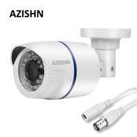 AZISHN Güvenlik Kamera 800TVL 1000TVL CMOS Sensör 24 IR-Led 3.6mm Lens Su Geçirmez Bullet CCTV Video Gözetim Beyaz kamera
