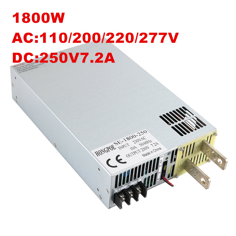 1800W 250V 7A High Power Supply AC-DC 0-5V analog signal control 30-250v adjustable power supply 250V power supply 250V 1800W ac 250v 8a pushbutton power switches 10 pack