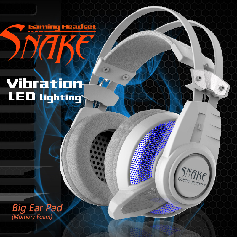 Plextone PC900 Gaming Headphone Glow LED Light Professional Over-Ear Earphones HiFi Game Super Bass Headset Wired Mic for Games