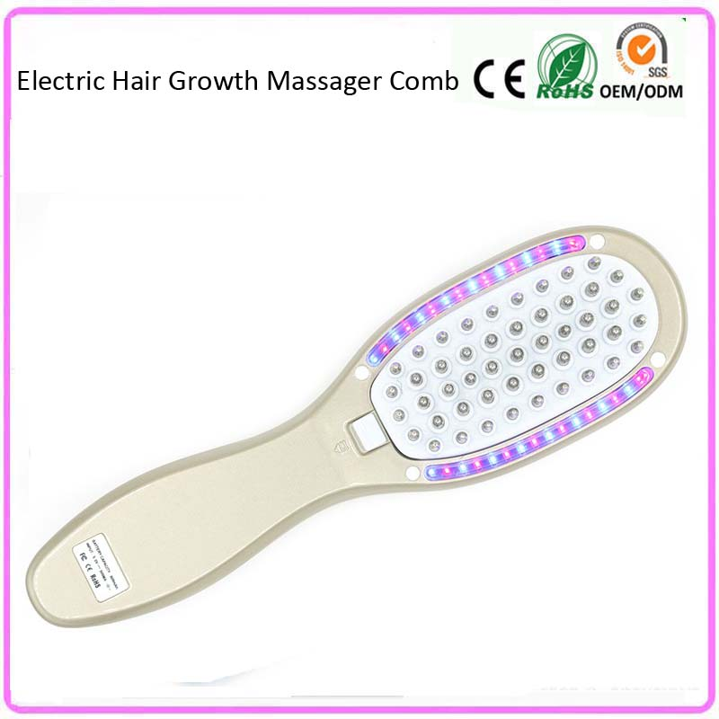 Electric Anti Hair Loss Massager Comb Vibration Led Light Photon Therapy Hair Growth Regrowth Massager Machine USB Rechargeable electric laser hair growth massager comb led light photon therapy hair loss treatment