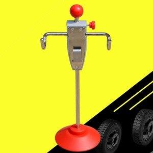 Image 3 - 14.5 بوصة سيارة محاذاة الرف شاحنة فان عجلة القيادة التسوية حامل حامل أداة نظام أحمر فضي