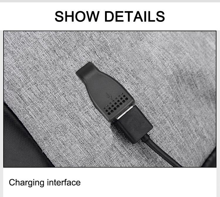 Sac à dos pour ordinateur portable USB 19
