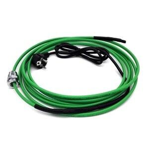 Image 2 - 220v cabo de aquecimento (17 w/m) para a instalação dentro da tubulação de água (tubulações) com acoplamento para entrar na tubulação