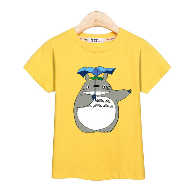 Boy Cartoon 3D T Shirt Totoro Print Kids New Tops Cotton Long Sleeve Baby Girl Clothes Tees 3-14T Tshirts 3