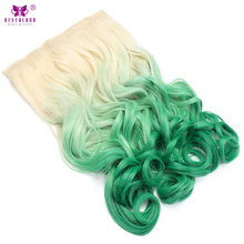 Dye synthetic hair extensions online shopping the world largest neverland 20inch long wavy hair women hair piece high tempreture ombre synthetic 5 clips in hair pmusecretfo Gallery