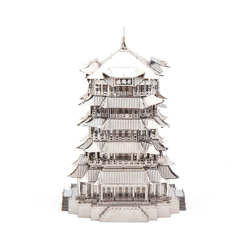 3D Metal Puzzle Childrens Toys Yellow Crane Tower Golden New Playground Model Assembled Kit Adult Puzzle Children Education3D Metal Puzzle Childrens Toys Yellow Crane Tower Golden New Playground Model Assembled Kit Adult Puzzle Children Education