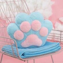 Cute Pillow Cat Claw Cushions Seat Pad Chair Cushions Garden Home Decor Travesseiro Sofa Pillows Zitkussen Seat Cushion 60B0269