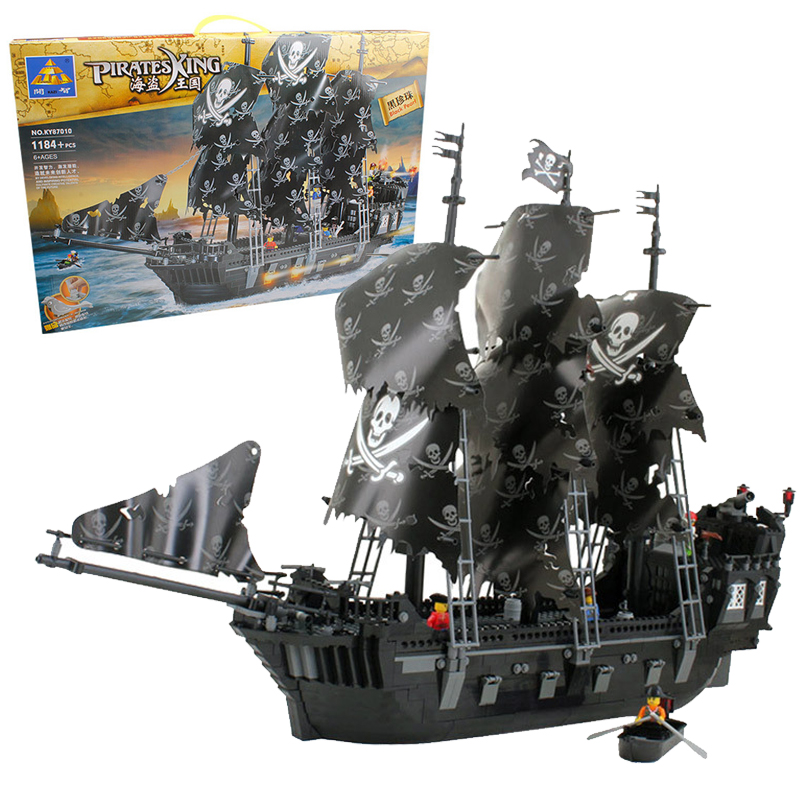 ФОТО  NEW 1184PCS Pirates of the Caribbean Black Pearl Ship Large Model Assembled Building Blocks Kids toys Compatible With Legoe