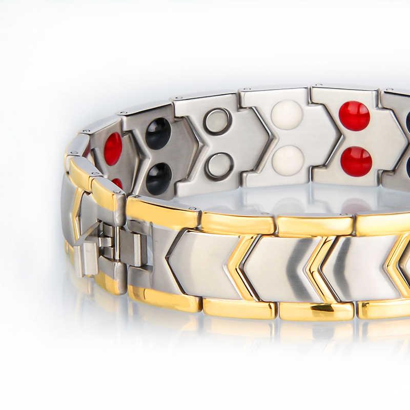 Mała żaba ze stali nierdzewnej zdrowe magnes biżuteria bransoletka męska energii terapia magnetyczna prezent na dzień ojca 10202