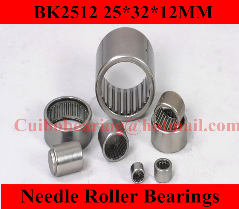 Free shipping  BK2512 Drawn cup Needle roller bearings 25941/25 the size of 25*32*12mm bk5025 drawn cup needle roller bearings 5943 50 the size of 50 58 25mm
