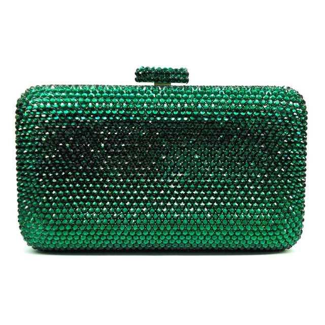 placeholder LaiSC wholesale Luxury navy blue evening handbag Red crystal  Clutch bag women evening bag Wedding purse bd052ea5abef