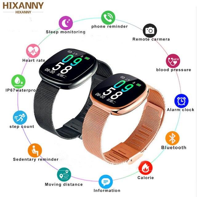 Nieuwe Screen Activiteit Tracker Waterdicht Smart Armband Bloeddruk Stappenteller Smart Polsband Hartslagmeter Mens Vrouwen