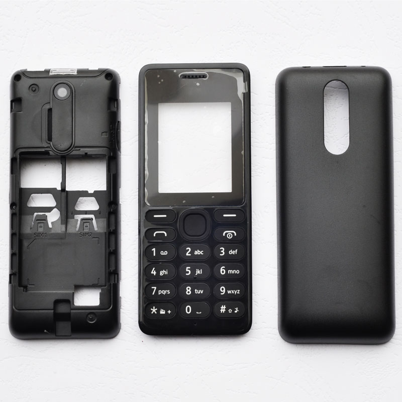 BINYEAE New Full Housing For Nokia 108 Case Cover Facing Front Frame With Key Board Display Glass+Middle Frame+Back Cover