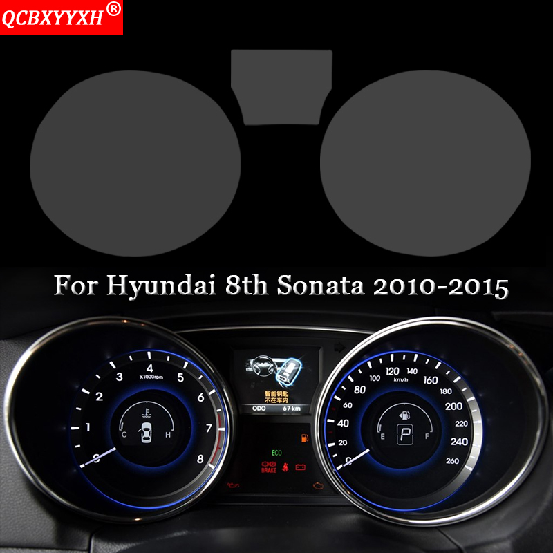 Car Styling Dashboard Paint Protective Film Sticker Light Transmitting Automobiles Accessories For Hyundai 8th Sonata 2010-2015