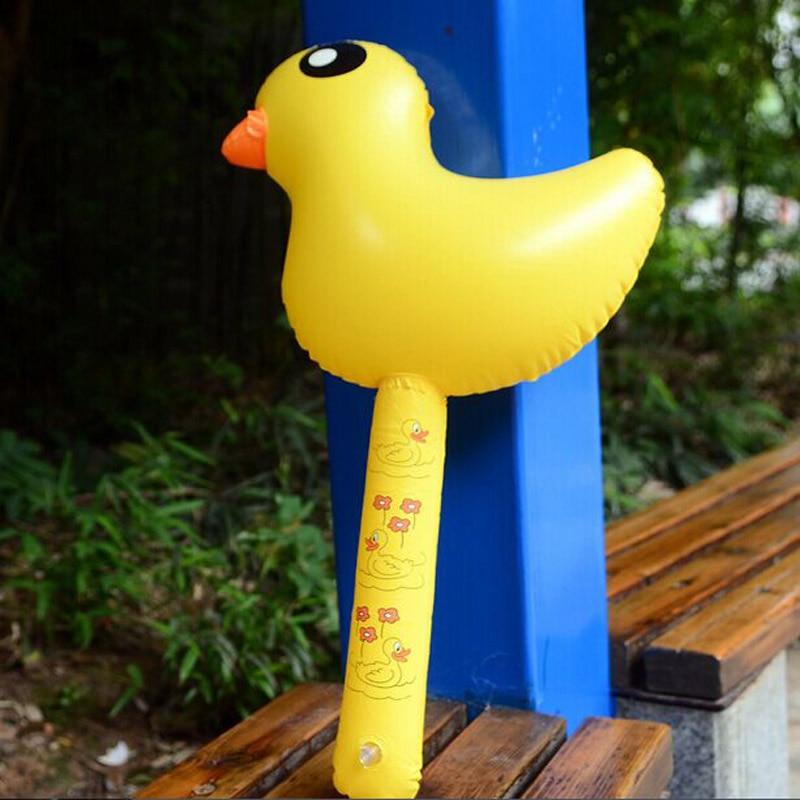gratis frakt ny anlände 10st Uppblåsbara Stick Kid Uppblåsbara Hammer Uppblåsbara Gula Duck PVC Spel Stick Barn Leksaker