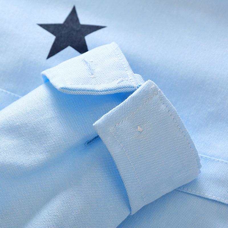 Kołnierzyk z guzikami z guzikami dla dzieci Bluzki z długimi - Ubrania dziecięce - Zdjęcie 4