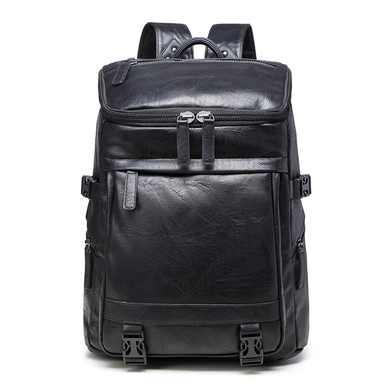 large capacity waterproof travel backpack for men classic PU leather mens school backpack for 15.6 laptop mens backpack baglarge capacity waterproof travel backpack for men classic PU leather mens school backpack for 15.6 laptop mens backpack bag