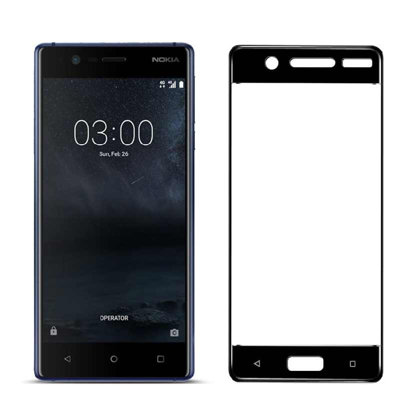 Black 5.2inch 9H 2.5D Curved Edge Full Cover Tempered Glass For Nokia 5 Screen Protector For Nokia5 Glass Protective Guard Film