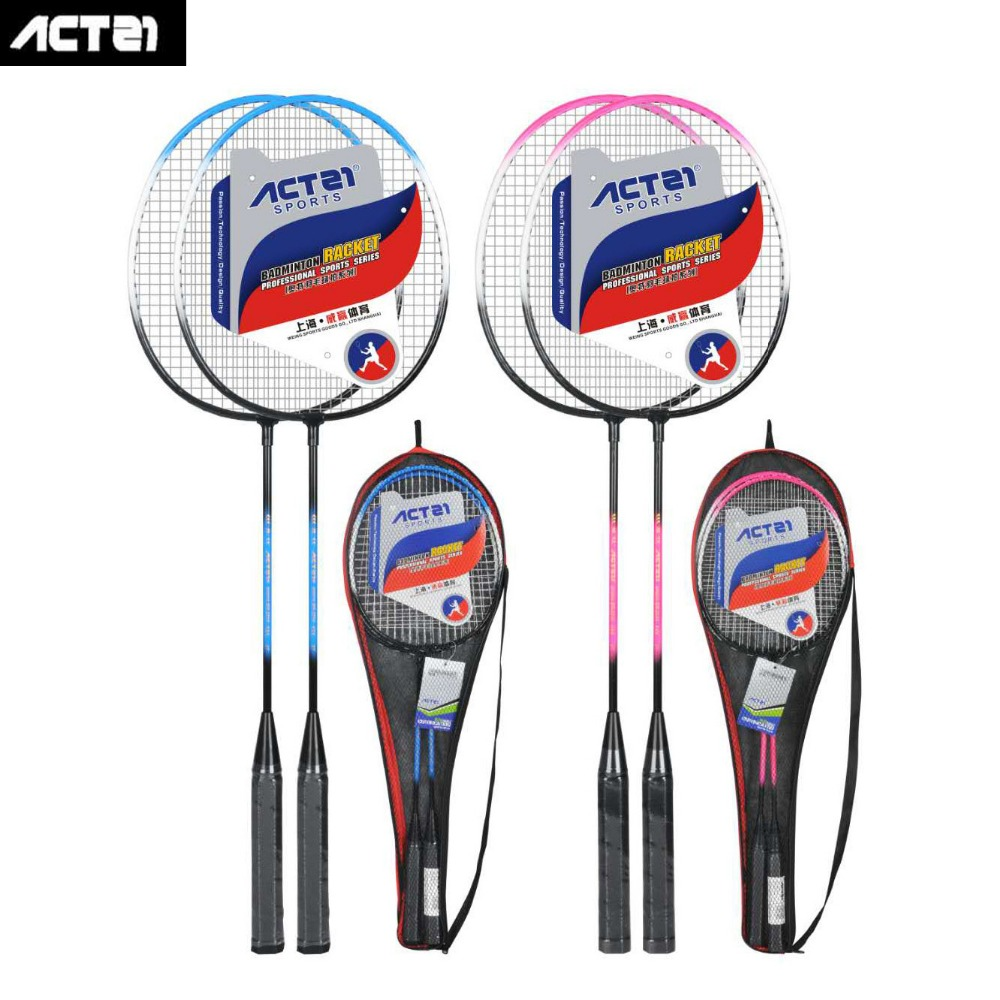 2018 ACTEI BR2210 Professional Iron Alloy Split Adults Badminton Racquet Light Weight Racket With Strings And Anti-skid Handle