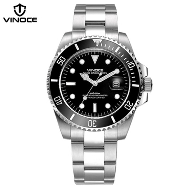 200 m étanche plongée montres en acier sport quartz montre calendrier lumineux militaire affaires hommes horloge Relogio masculino