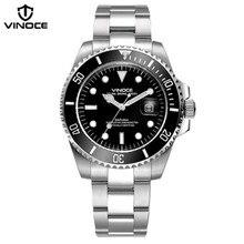 Фотография 200 m waterproof diving watches steel sport quartz watch calendar luminous military Business men clock Relogio masculino