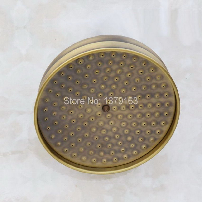 8 ( inch ) Vintage/Retro Antique Brass Round Shape Rain Bath Rainfall Shower head / Bathroom Accessory (Standard 1/2)  ash052 free shipping 20 pc 6mm hole straight push in tube pneumatic quick fitting pc6 02