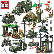 Enlighten Military Blocks 937+pcs Boys Educational Blocks Army Cars Helicopter Air Weapon Tank Building Blocks Toys For Children