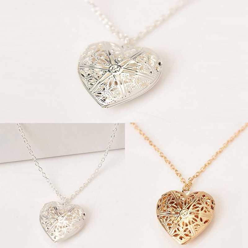 1 шт. последние в форме сердца ожерелье Любовь играть открыть небольшой фото корейские женские полые ожерелье с бусинами-кубиками с цветком 2019